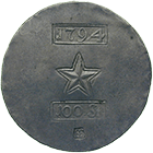 City of Maastricht Besieged by the French, Siege Coin of 100 Stuivers 1794 (obverse)