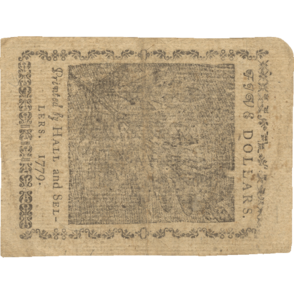 United States of America, 5 Dollars 1779 (reverse)