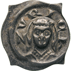 Holy Roman Empire, Fraumünster Abbey of Zurich, Elizabeth of Wetzikon, Pfennig (obverse)
