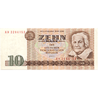 German Democratic Republic, 10 Mark 1971 (obverse)