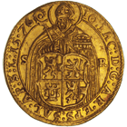 Holy Roman Empire, Archbishopric Salzburg, Johann Jacob Khuen of Belasi, Double Ducat 1576 (obverse)