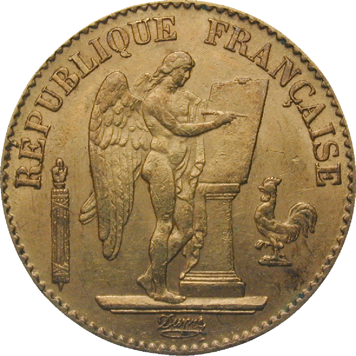 Republic of France, 20 Francs 1895 (obverse)