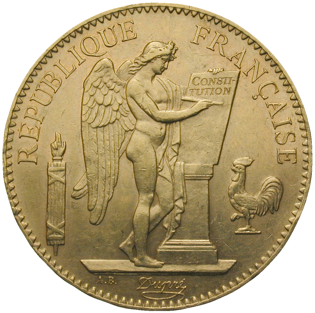 Republic of France, 100 Francs 1900 (obverse)