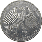 Federal Republic of Germany, 5 Deutsche Mark 1976 (obverse)
