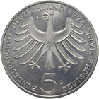 Federal Republic of Germany, 5 Deutsche Mark 1975 (obverse)