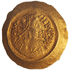 Kingdom of the Lombards, Aripert II, Tremissis (obverse)