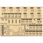 Swiss Confederation, Food Ration Card, March 1948 (obverse)