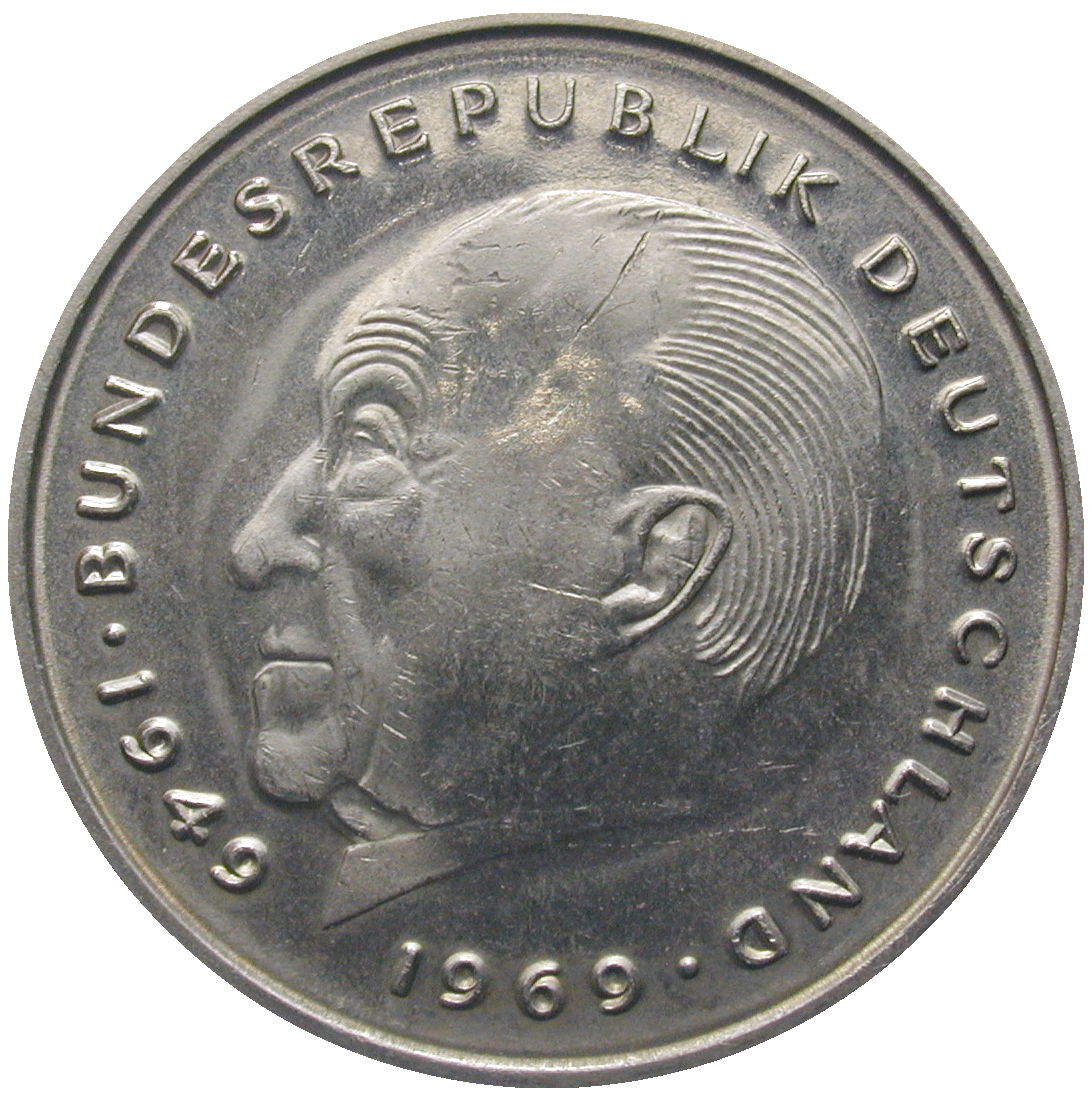 Federal Republic of Germany, 2 Deutsche Mark 1978 (reverse)