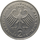 Federal Republic of Germany, 2 Deutsche Mark 1970 (obverse)