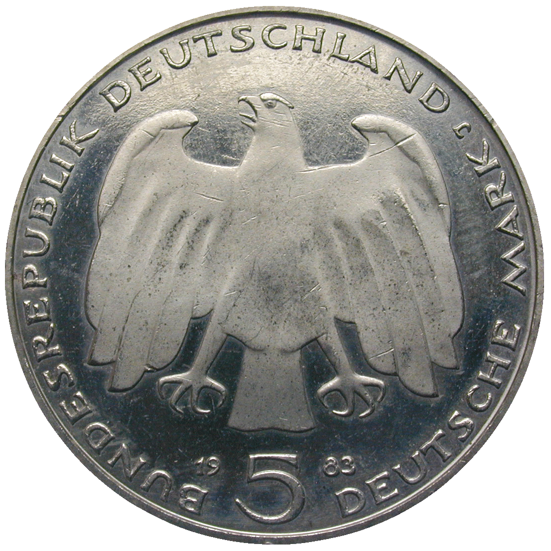 Federal Republic of Germany, 5 Deutsche Mark 1983 (obverse)