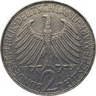 Federal Republic of Germany, 2 Deutsche Mark 1957 (obverse)
