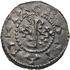 Kingdom of France, Hugh the Great in the Name of Raoul, Denier (obverse)