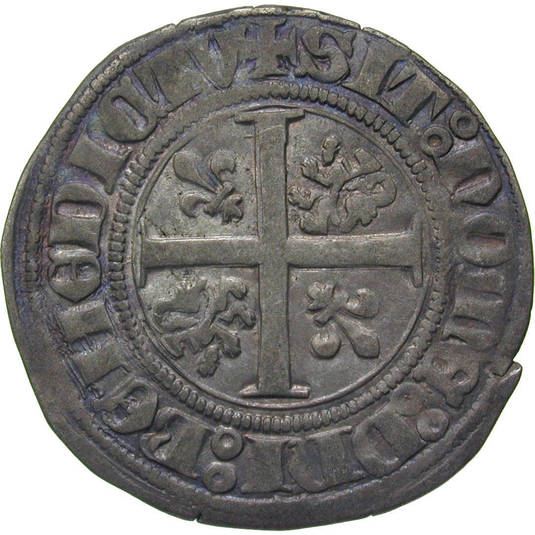 Kingdom of France, Duchy of Burgundy, Philip III the Good, Blanc d'argent (reverse)