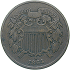 United States of America, 2 Cents 1864 (obverse)