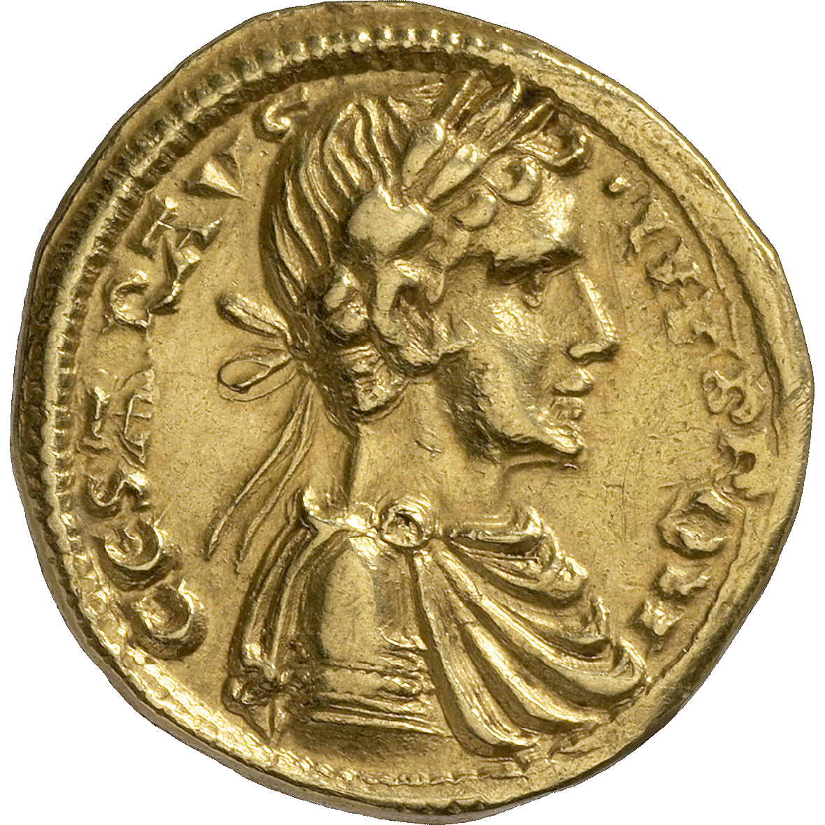 Holy Roman Empire, Frederick II of Hohenstaufen, 1/2 Augustalis (obverse)