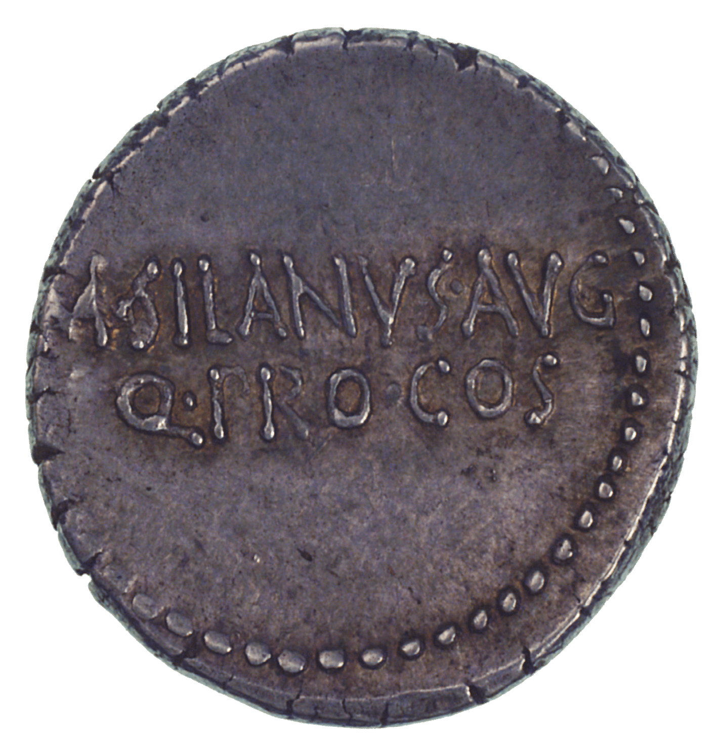 Roman Republic, Marcus Antonius and M. Junius Silanus, Denarius (reverse)