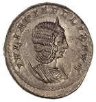 Roman Empire, Caracalla for Julia Domna, Antoninianus (obverse)