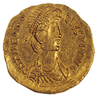 Bavaria or Baden-Württemberg or from the Region around Lake Balaton, Undefined Issue in the Name of Theodosius II, Tremissis (obverse)