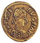 Visigoth Empire, Euric in the Name of Libius Severus, Tremissis (obverse)