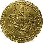 Ottoman Empire, Mahmud II, Surre Altin Year 16 (obverse)
