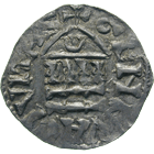Holy Roman Empire, Bishopric of Geneva, Frederick, Denier (obverse)