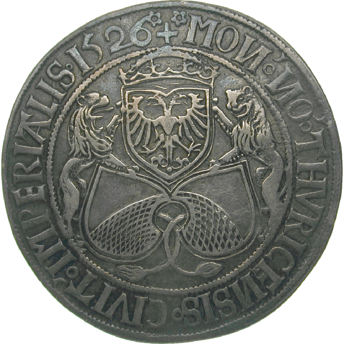 Holy Roman Empire, City of Zurich, Guldiner 1526 (obverse)