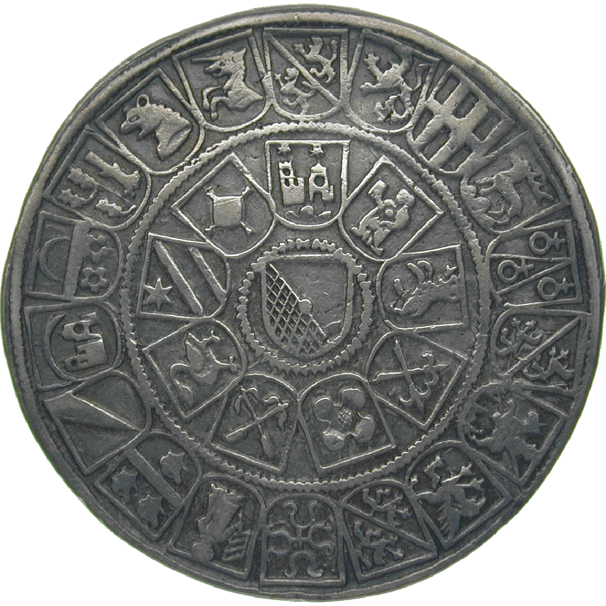 Holy Roman Empire, City of Zurich, Guldiner 1526 (reverse)