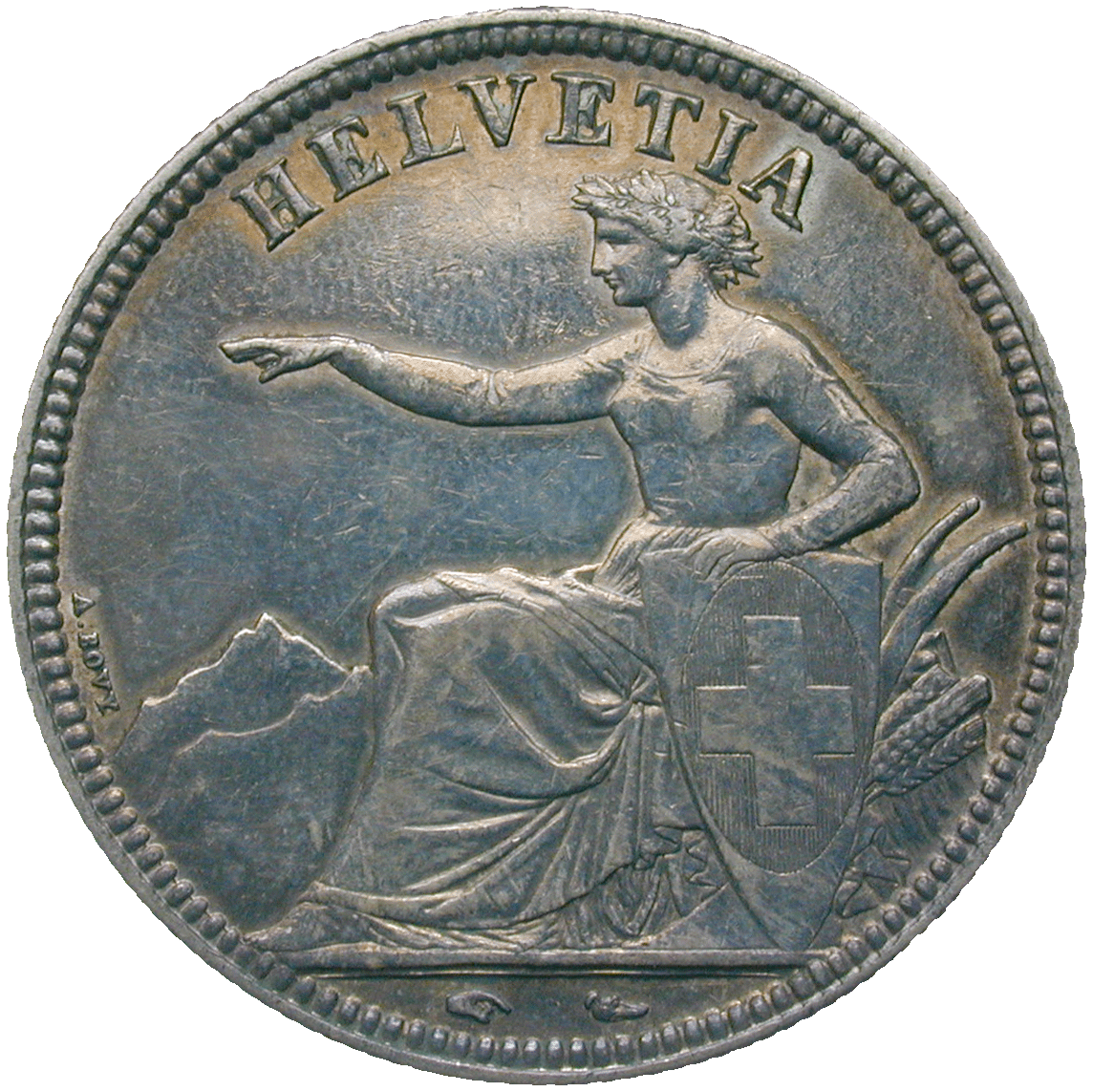 Swiss Confederation, 5 Francs 1851 (obverse)