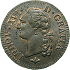 Kingdom of France, Louis XVI, Sol 1791 (obverse)