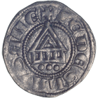 Bishopric of Lausanne, Denier (obverse)