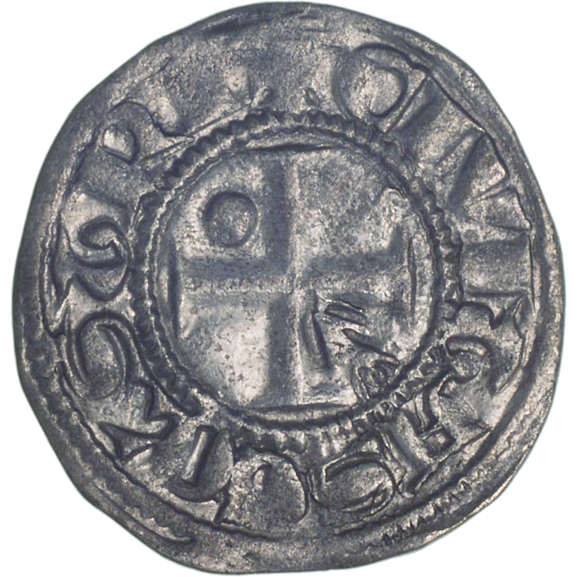 Bishopric of Lausanne, Denier (reverse)