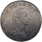 Kingdom of Sweden, Gustav III, Riksdaler 1776 (obverse)