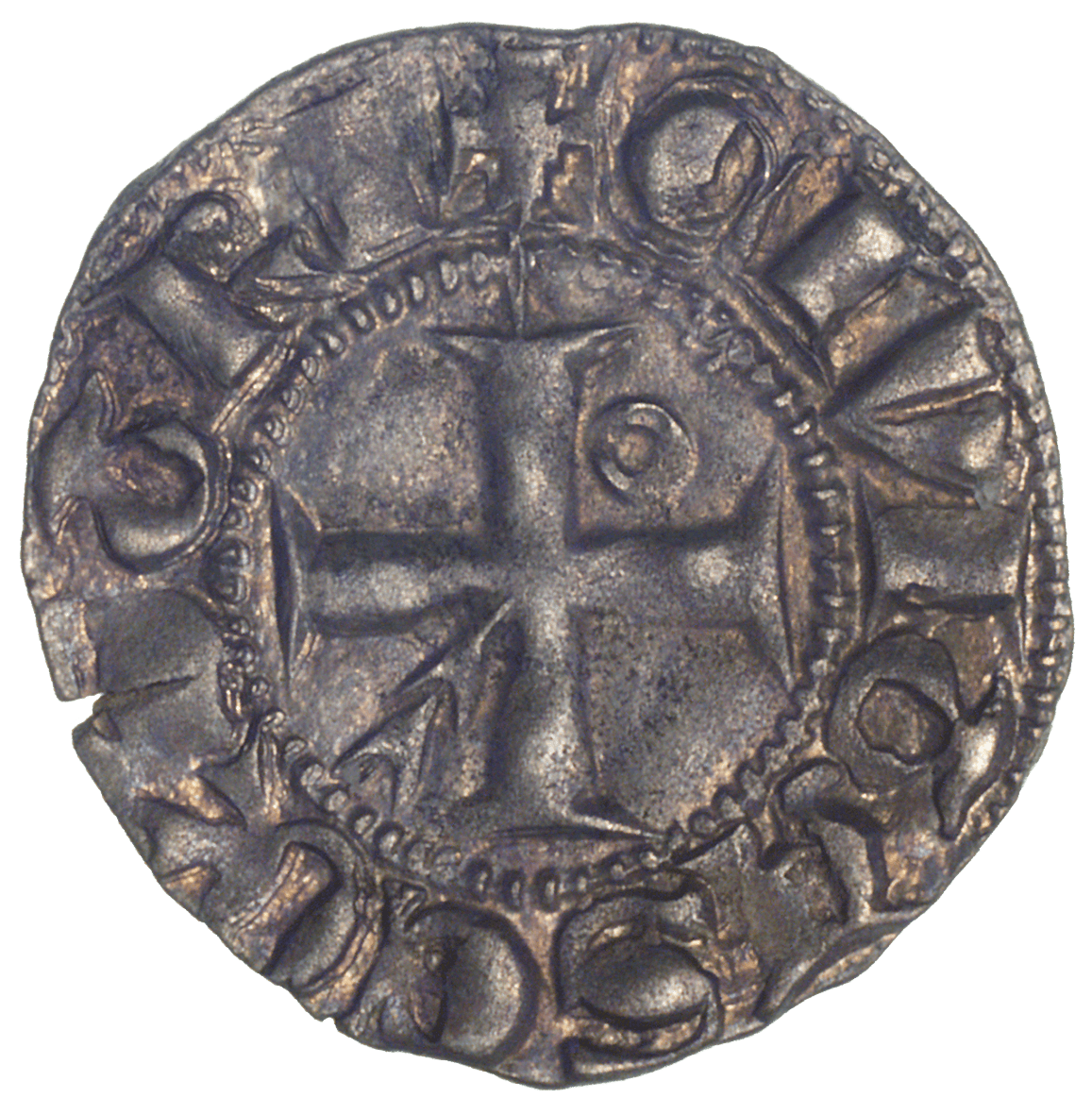 Bisopric of Lausanne, Aimon de Cossonay, Denier (reverse)