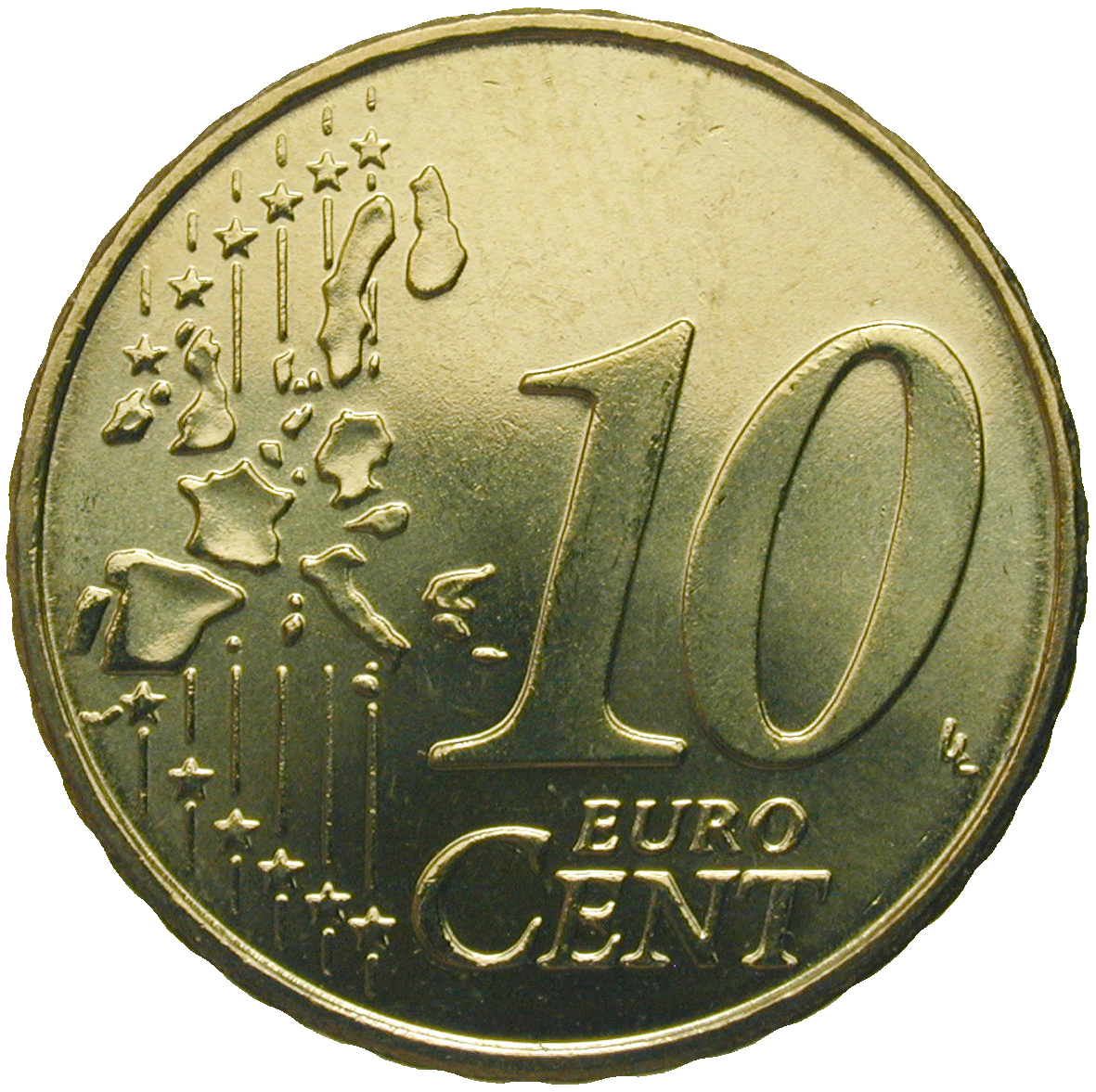 Republic of Greece, 10 Euro Cent 2002 (reverse)