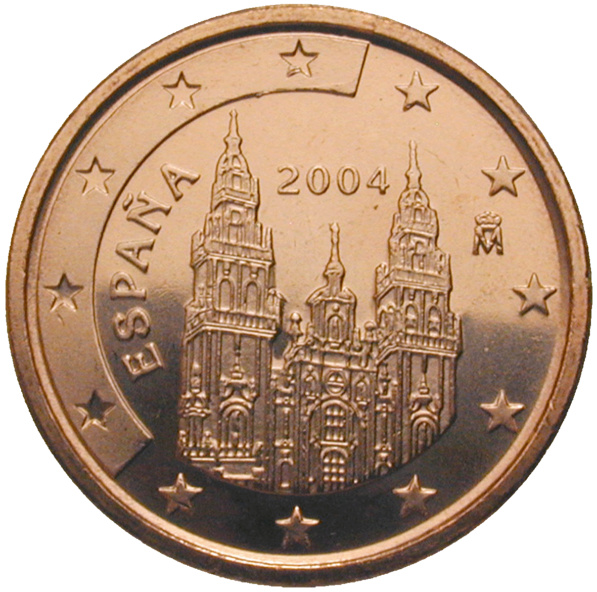 Kingdom of Spain, Juan Carlos, 1 Euro Cent 2004 (obverse)