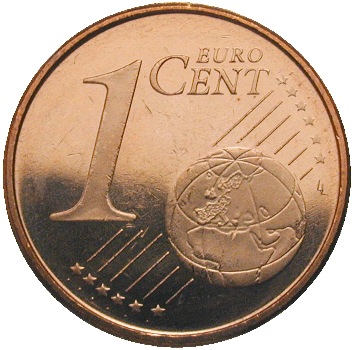 Kingdom of Spain, Juan Carlos, 1 Euro Cent 2004 (reverse)