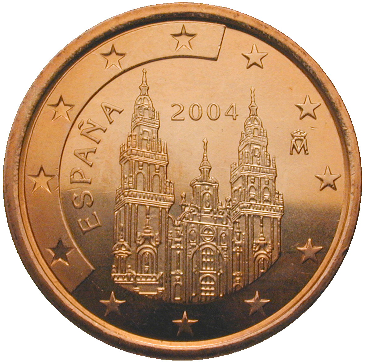 Kingdom of Spain, Juan Carlos, 5 Euro Cent 2004 (obverse)