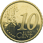 Kingdom of Spain, Juan Carlos, 10 Euro Cent 2004 (obverse)