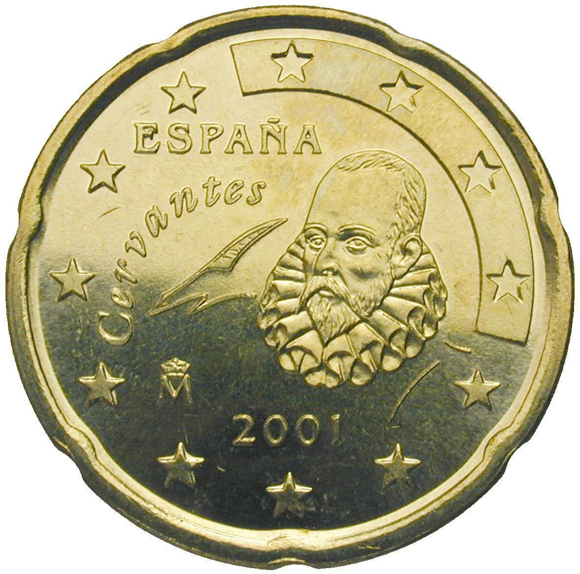 Kingdom of Spain, Juan Carlos, 20 Euro Cent 2001 (obverse)