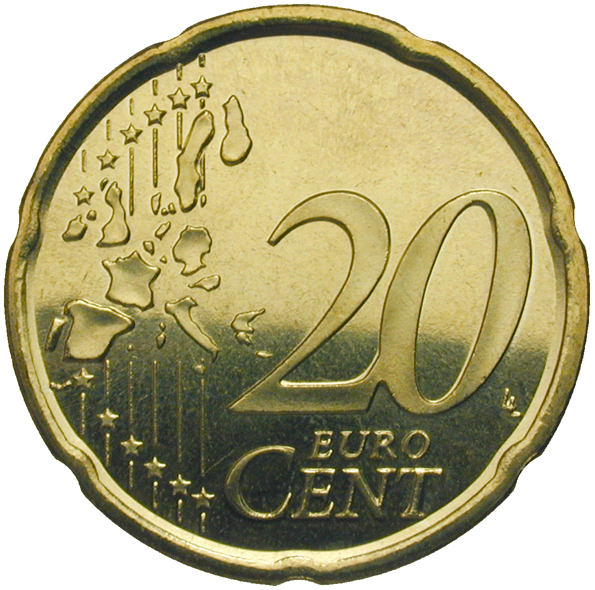 Kingdom of Spain, Juan Carlos, 20 Euro Cent 2001 (reverse)