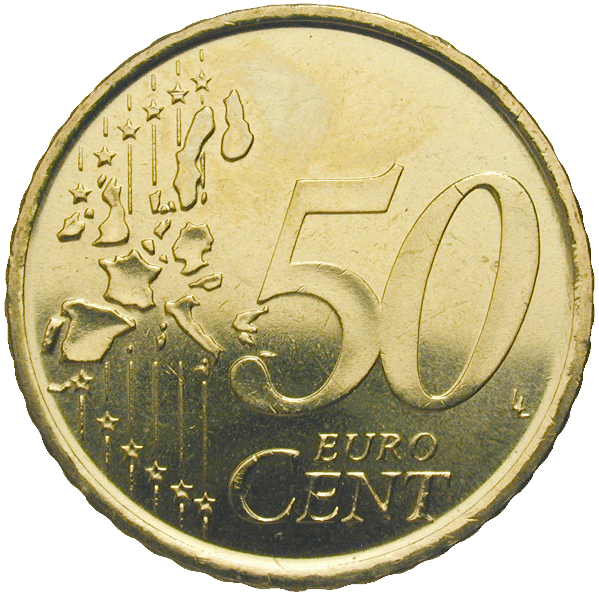 Kingdom of Spain, Juan Carlos, 50 Euro Cent 1999 (reverse)