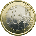 Kingdom of Spain, Juan Carlos, 1 Euro 2003 (obverse)