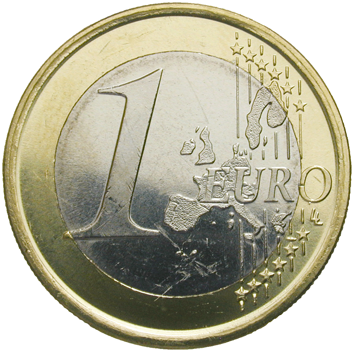 Kingdom of Spain, Juan Carlos, 1 Euro 2003 (reverse)