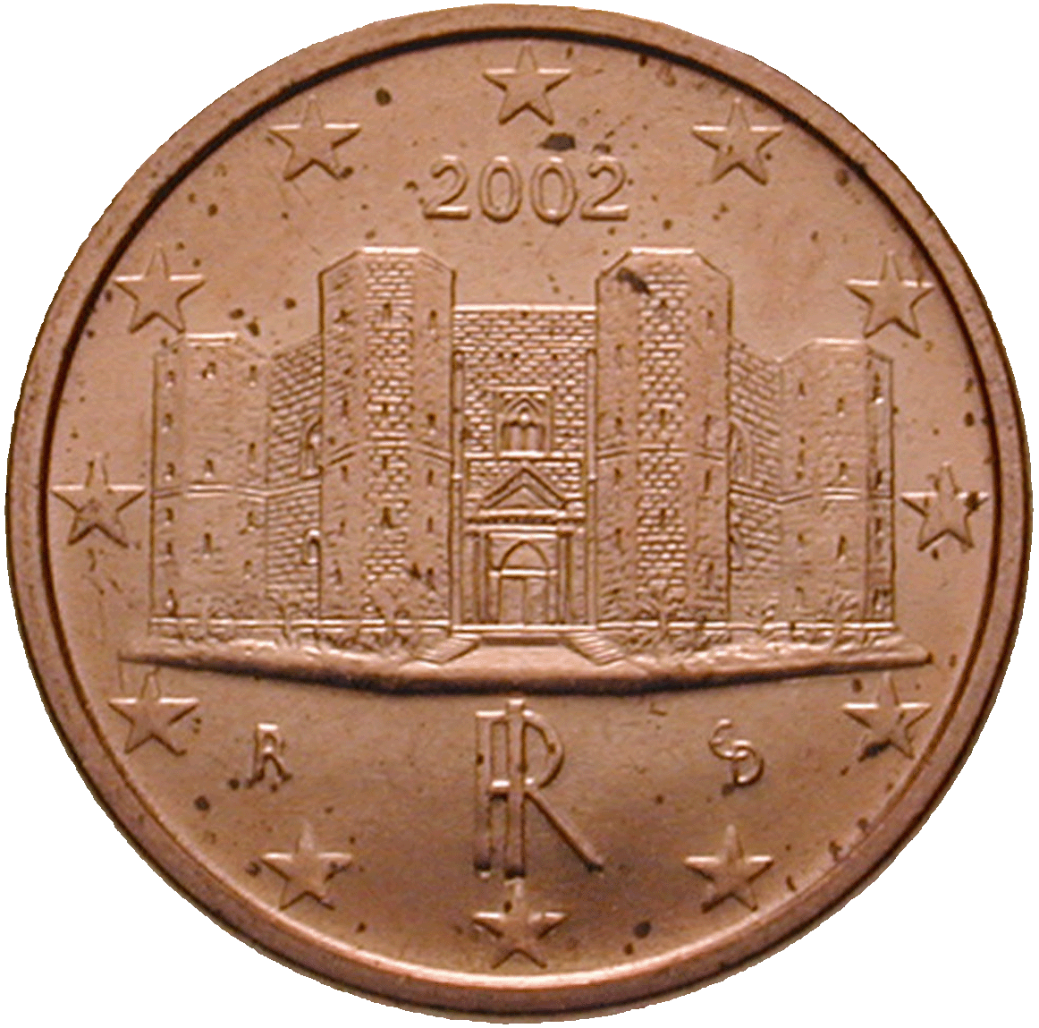 Republic of Italy, 1 Euro Cent 2002 (obverse)