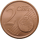 Republic of Italy, 2 Euro Cent 2002 (obverse)