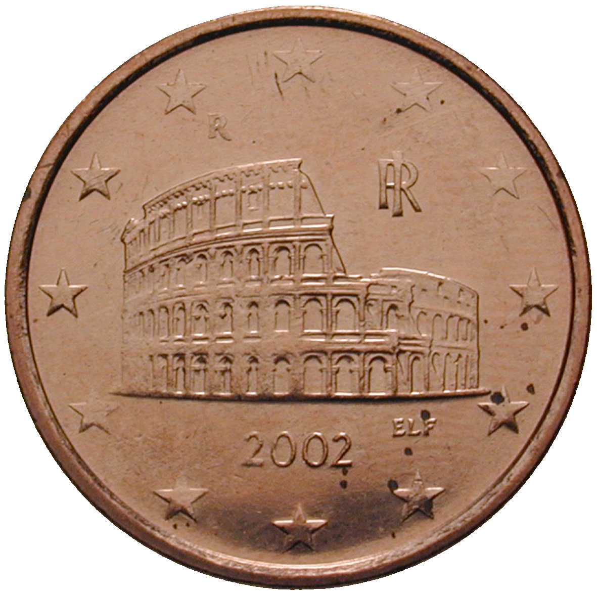Republic of Italy, 5 Euro Cent 2002 (obverse)