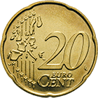 Republic of Italy, 20 Euro Cent 2002 (obverse)