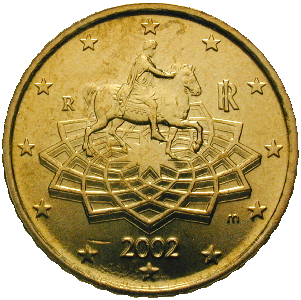 Republic of Italy, 50 Euro Cent 2002 (obverse)