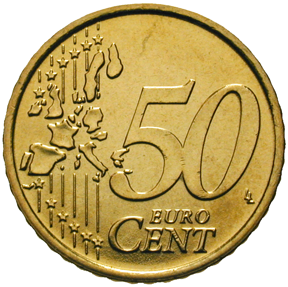Republic of Italy, 50 Euro Cent 2002 (reverse)