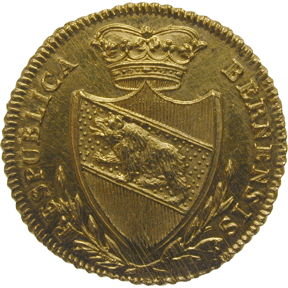 Republic of Berne, 1/2 Duplone 1797 (obverse)